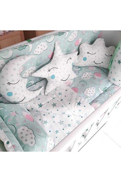 bebek iklimi 60x120 Yeşil Pamuklu Bebek Uyku Seti