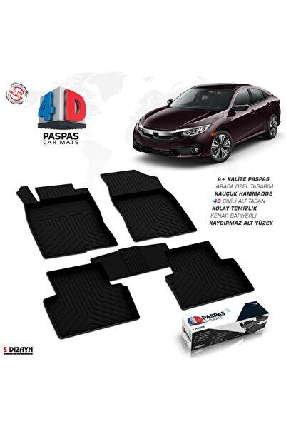 S Dizayn S-dizayn Honda Civic Sd 4d Havuzlu Paspas 2016 Ve Üzeri A+kalite