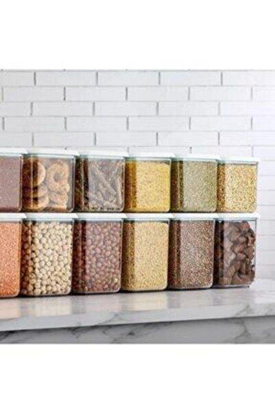 Özc Kitchens Vakum Kapaklı 12' Li Erzak Saklama Kabı Seti(1200+900 ml*6)