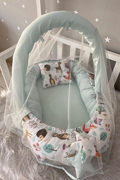 Jaju Baby Sevimli Orman Cibinlik Ve Oyuncak Askılı Lüx Tasarım Babynest