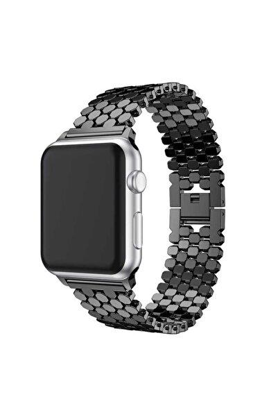zore Apple Watch 6 40mm Bal Peteği Tasarımlı Metal Gövdeli Kordon