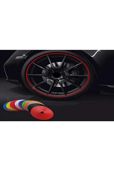 Trim 8 Metre Araba Jant Bant Araç Teker Şerit Dekorasyon Oto Aksesuar Bandı Lüx Model Bant Kırmızı
