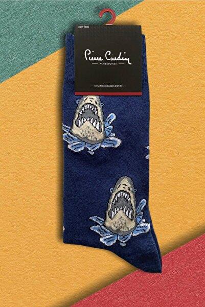 Pierre Cardin Erkek Desenli Neşeli 6'lı Pamuk Çorap