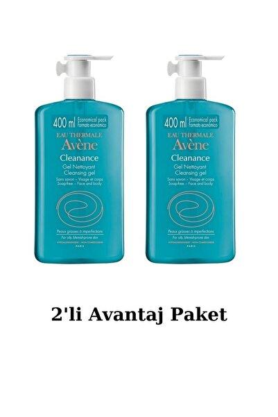 Avene Cleanance Gel Yüz Yıkama Jeli Nettoyant Cleansing Gel 400 Ml 2'li Avantaj Set