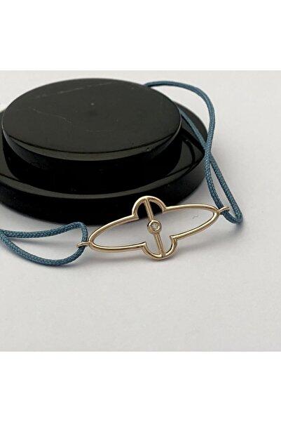 Mireille Collection Kadın Mavi Pırlanta İp Bileklik