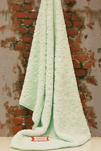 Özdilek Embos Bebek Battaniyesi - Mint Yeşil