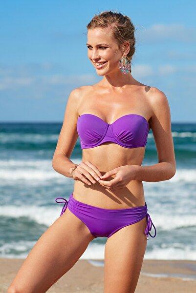 No Gossip Kadın Mor Straplez Kaplı Bikini Üst 209105
