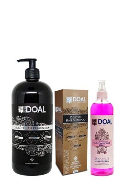 DOAL Keratin Sütü+keratin Şampuanı+keratin Pembe Sprey