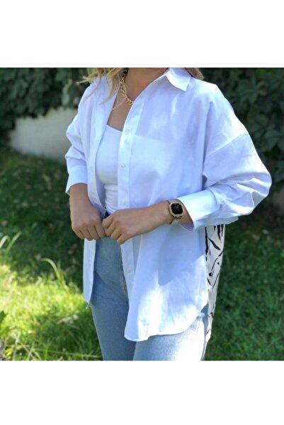 Flow Kadın Beyaz Gömlek