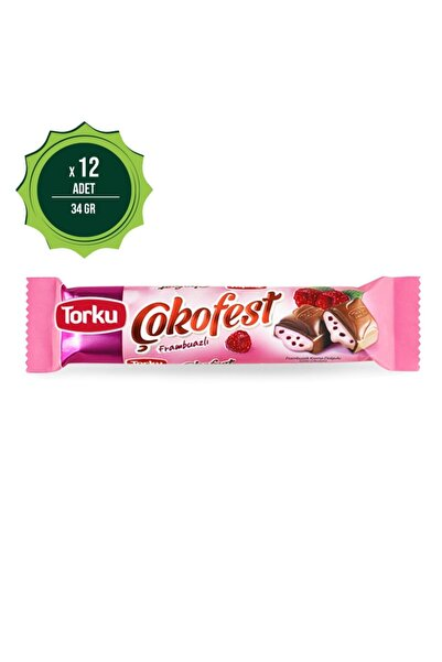Torku Çokofest Frambuaz Kremalı Çikolata 34 gr X12