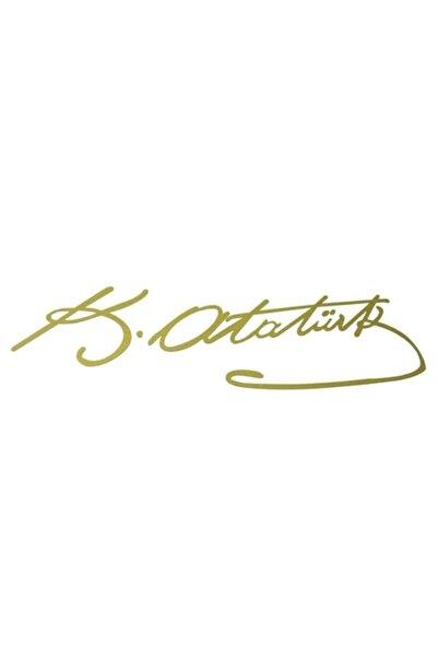 ModaCar 20 Cm Altın Rengi K.Atatürk İmza Sticker 422291