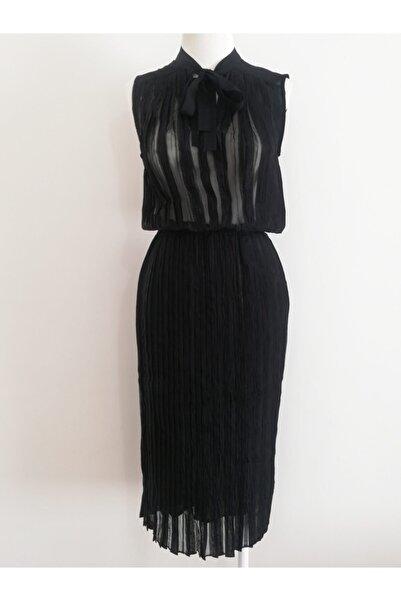 Vekem Kadın Siyah Piliseli Elbise