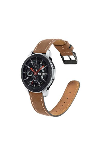 zore Mkorayavm Samsung Galaxy Watch 46mm 22mm Şık Deri Kordon