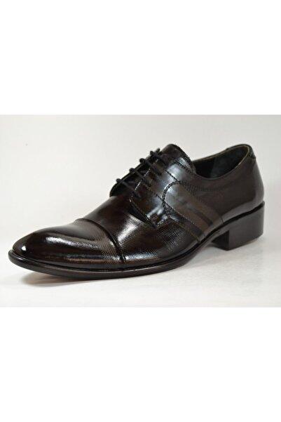 TETRİ Erkek Siyah Rugan Deri Klasik Ayakkabı 2026