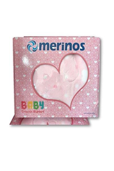 Merinos Bebek Pembe   Embos - Kabartmalı Battaniyesi