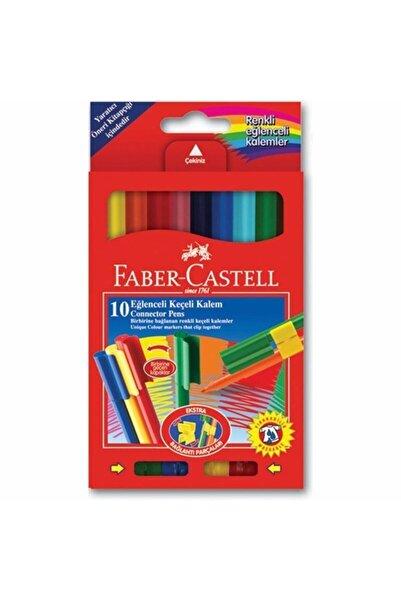 Faber Castell Birbirine Geçmeli 10 Lu Eğlenceli Keçeli Kalem
