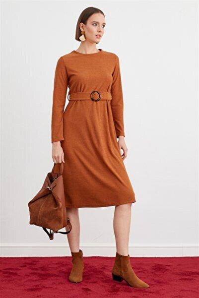 Journey Kadın Koyu Hardal Elbise