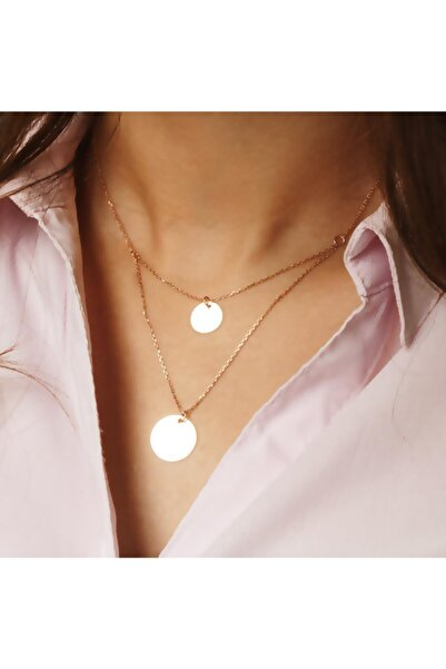 Azuris Silver Kadın 925 Ayar Gümüş İkili Plaka Kolye Alk1308