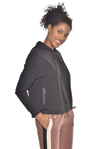 bilcee Kadın Siyah Uzun Kollu Ince Sweatshirt Gw-9225