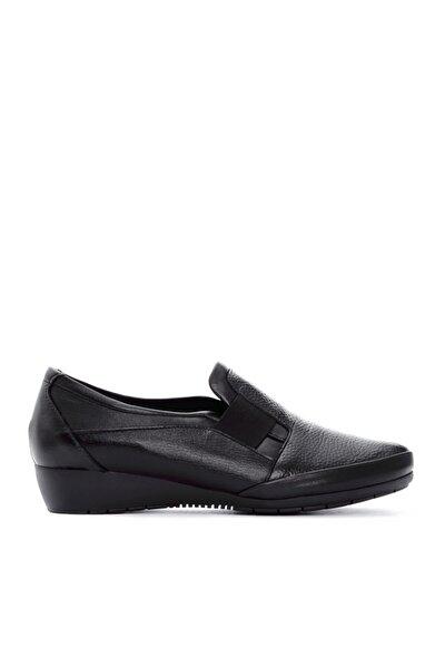 KEMAL TANCA Kadın Siyah Deri Comfort Ayakkabı