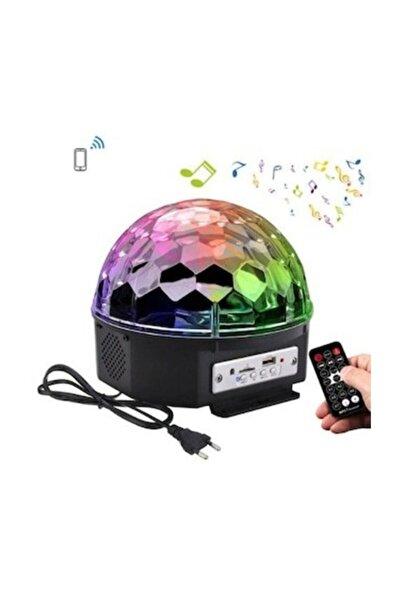 KİNGDOWS Parti Malzemesi Sese Duyarlı Bluetooth Led Küre Disko Topu Renkli Işıklı Lazer Sd Kart+ Test Flash