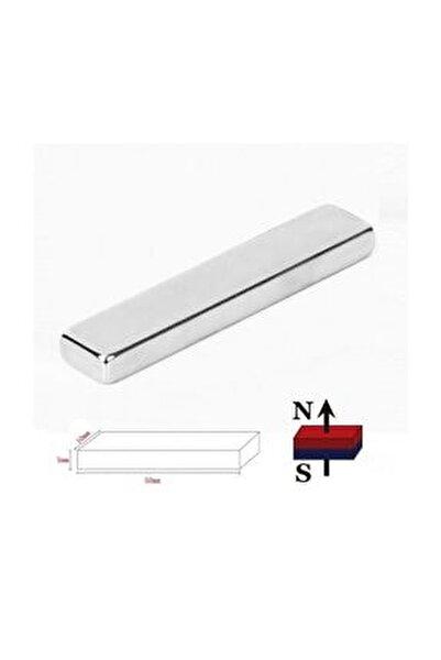 5 Adet Çok Güçlü 50mm X 10mm X 5mm Köşeli Süper Güçlü Neodyum Mıknatıs