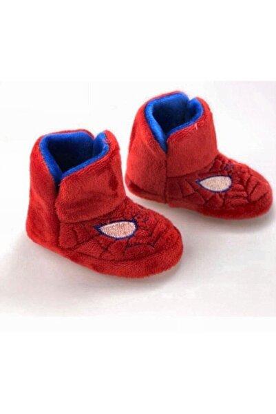 TerlikModasi Erkek Çocuk Kırmızı Örümcek Desenli Panduf