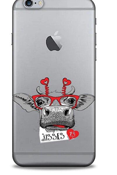 Lopard Zoologix (6) Apple Iphone 6s Plus Şeffaf Kılıf Silikon Desenli