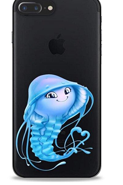 Lopard Zoologix (62) Apple Iphone 7 Plus Şeffaf Kılıf Silikon Desenli