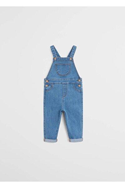 MANGO Baby Bebek Donuk Mavi Uzun Kot Salopet