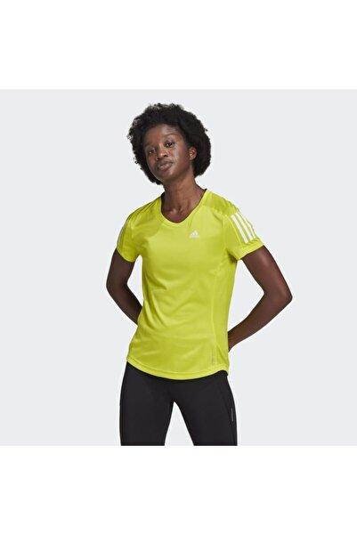 adidas Kadın Sarı Own The Run Tişört Gj9983