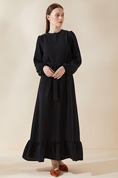 Sitare Etek Altı Fırfırlı Elbise 21y932