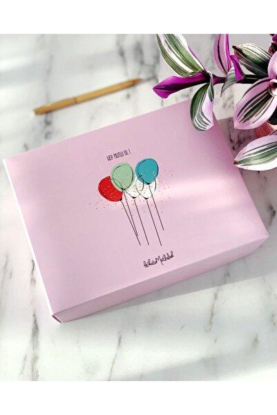 Bikutumutluluk Hep Mutlu Ol Balonlar Doğum Günü Hediye Kutusu