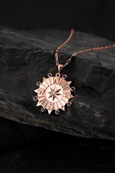 Altınbaş Kadın Rose Silver Pusula Kolye