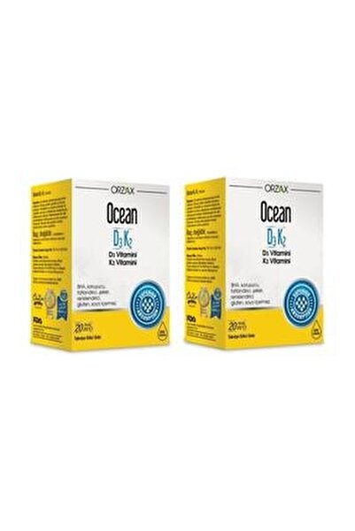 Ocean Vitamin D3k2 Damla 20 ml 2'li Paket (Miad 12/2022)