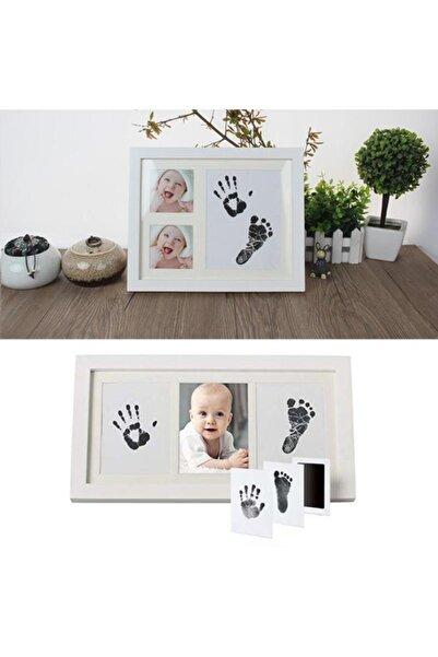Ankaflex Yenidoğan Bebek El Ve Ayak Izi Fotoğraf Çerçevesi Seti - 2 Adet
