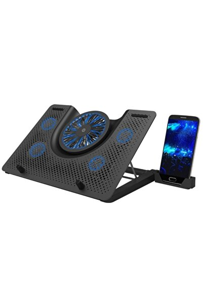 FRISBY Fnc-5240st 5 Fanlı Metal Profesyonel Gaming Notebook Laptop Soğutucu Stand Fay Teknoloji