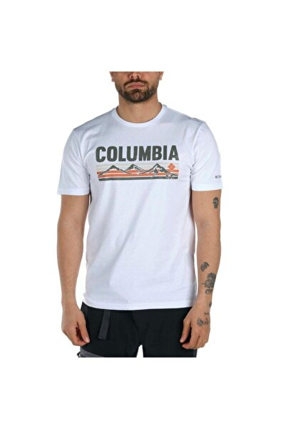 Columbia Erkek Beyaz Elevated Outlook Graphic Kısa Kollu Tişört Cs0132-100