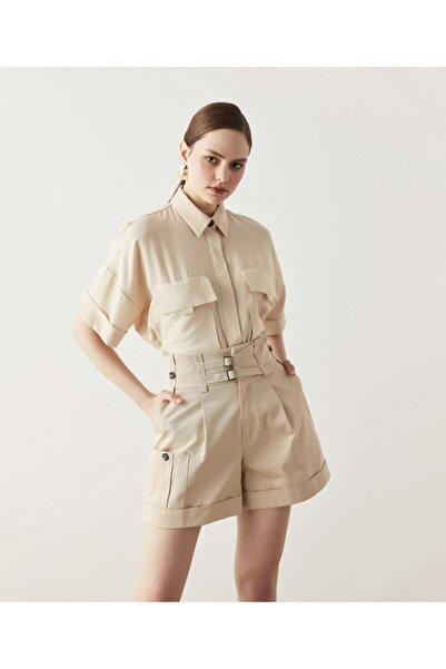 İpekyol Kadın Bej Safari Gömlek