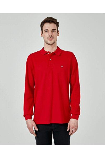United Colors of Benetton Erkek Kırmızı Uzun Kol Polo Tshirt