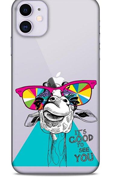 Lopard Zoologix (11) Apple Iphone 11 Şeffaf Silikon Desenli Kılıf
