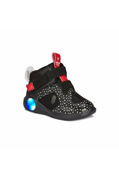 Vicco Unisex Çocuk Siyah Işıklı Spor Ayakkabı Işıklı Bot