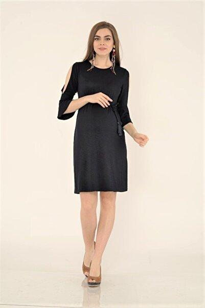 Entarim Kadın Lacivert Hamile Tencel Elbise 2834
