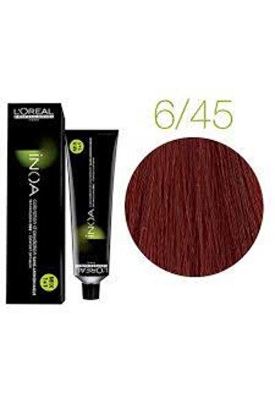 İNOA 6.45 Numara Koyu Kumral Bakır Akaju Saç Boyası 60 Ml (oksidansız)