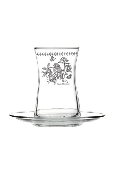 çerçi Bohemia Kuş Desen 6'lı Çay Bardağı Seti Bhm04-k