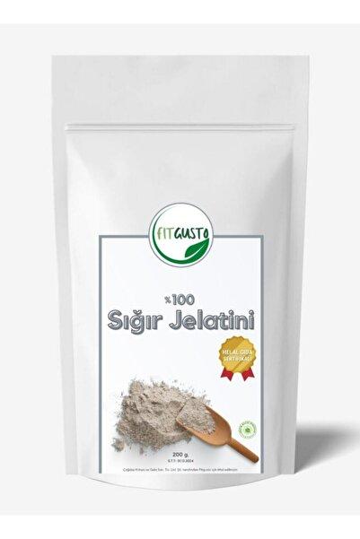 fitgusto Toz Sığır Jelatini (%100 Sığır Jelatini) - 200 Gr