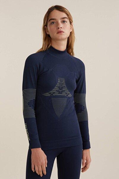Oysho Kadın Deniz Mavisi X-Bionic® Ski Dikişsiz Teknik Tişört