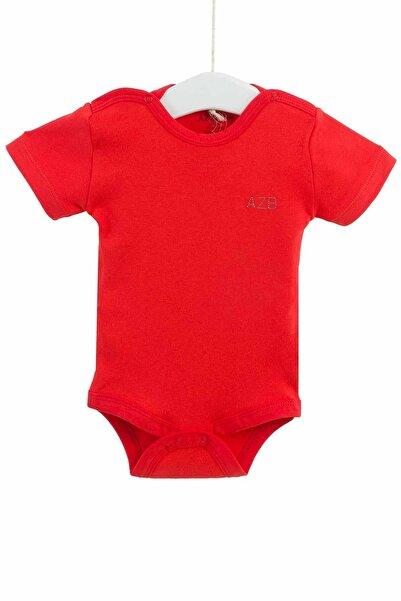Aziz Bebe Unisex Bebek Kırmızı Çıtçıtlı Kısa Kollu Badi 0-12 Ay 1651