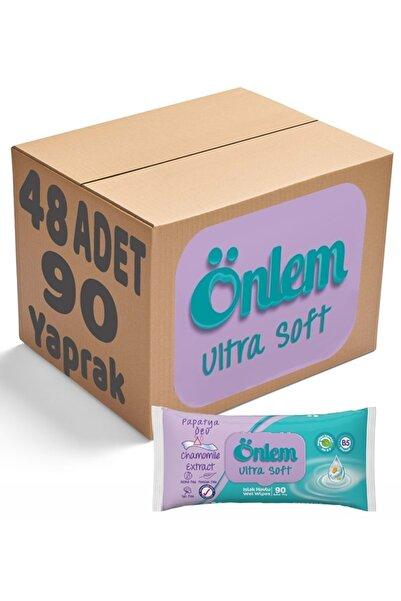 ÖNLEM Islak Havlu Mendil 90 Yaprak 48 Li Set (plastik Kapaklı) Papatya Özü