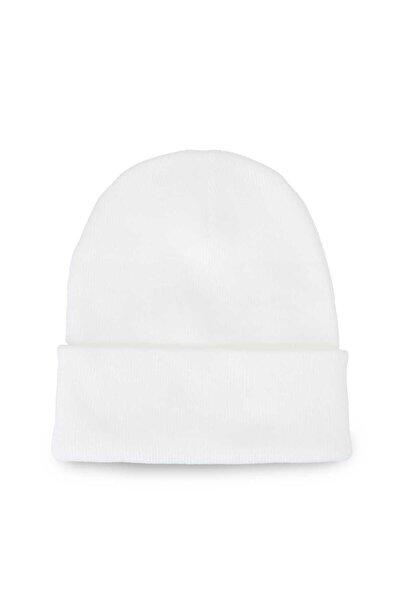 Streak Erkek Katlamalı Bere Şapka Kışlık Beyaz